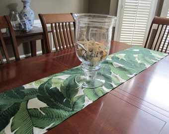 Tropical Banana Palm Leaf Table Runners - Palm Springs - Martinique - Beverly Hills - Tommy Bahama - Palm Beach Wedding