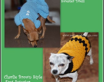 Lucy Style and Charlie Brown Style Instant Download Crochet Pattern Bundle