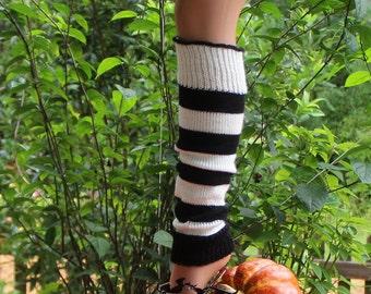 Black & White Child Legwarmer 15 inches