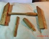 STEAMPUNK JUNK, broken vintage wooden clamp has become an Artist's Imagination.....