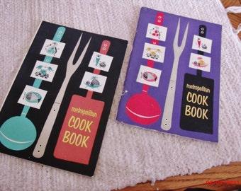 Metropolitan Cook Books from the 1950s, Retro Metro Cook Books, Vintage cook books.....
