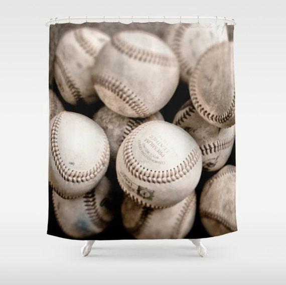 Baseball Shower Curtains