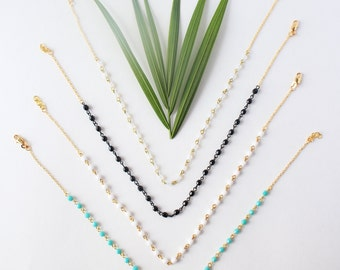 Clear Choker - Clear Beaded Choker Necklace