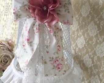 Shabby Pink Rose Milk Glass Lamp, Perfume Lamp, Night table lamp, Shabby Boudoir, Vanity Lamp, shabby Cottage Chic lighting,