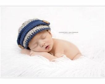 Baby boy newsboy hat