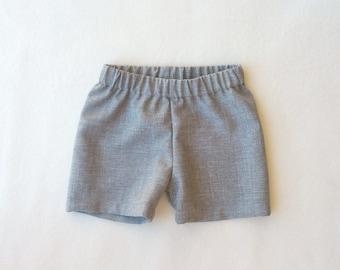 Heather Grey Pants, Heather Gray Shorts, Gray Ring Bearer, Grey Ring Boy, Grey Suiting Shorts, Gray Baby Shorts, Ring Bearer, Shorts, Pants