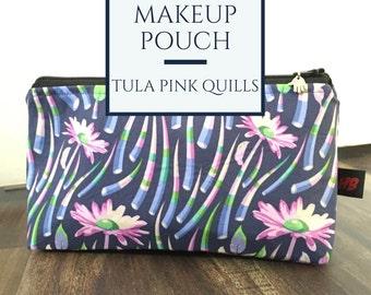 Handmade Tula Pink Quills Makeup Pouch