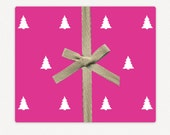 Paperie: Fine Paper Gift Wrap - Pink Trees