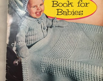 Vintage 1950s Crochet Pattern Coats & Clark's Books for Babies