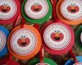 Elmo Favor Tags-Elmo Thank You Tags-Elmo Party Tags-Elmo Decoration-Elmo Party Decor-Sesame Street Favor Tags-Sesame Street Thank You Tags