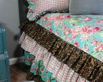 Twin Bedding set Girls Ruffled Duvet