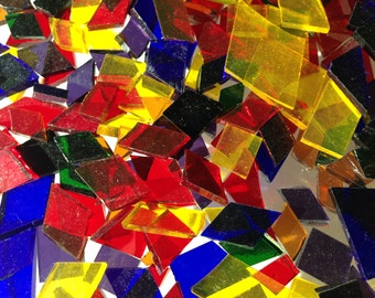 Mosaic Tiles - Cathedral Confetti - Multi-colored Glass