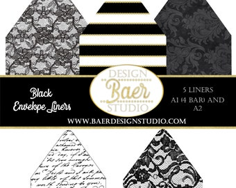 50% off:Printable Envelope Liners, A1 envelope liner, 4 bar envelope liner, A2 liner, Black Envelope Liner, Lace Envelope Liners, #83016