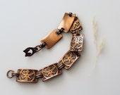 Vintage Copper Bracelet - Southwestern Thunderbird Copper Link Bracelet - Healing Copper Bracelet Links