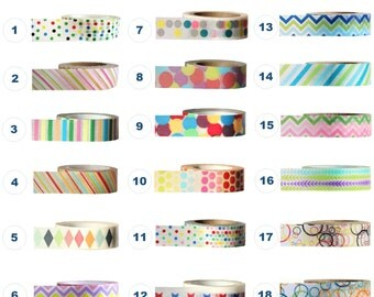 Washi Tape - MULTI-COLOURED Collection