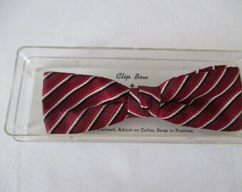 Vintage Royal Clip On Bow Tie