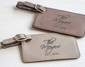 Pair (2) of Custom Wedding Luggage Tags: Personalized Bride Groom Luggage Tags, Anniversary Luggage Tags, Bride Groom Travel, Wedding Gift