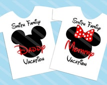 Disney Family Vacation Mickey Head Digital Download for iron-ons, heat transfer, T-Shirt, Totes, Bags,Scrapbooking,  YOU PRINT