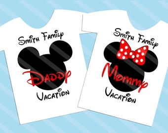 Disney Family Vacation Mickey Head Printable Digital Download for iron-ons, heat transfer, T-Shirt, Totes, Bags,Scrapbooking,  YOU PRINT