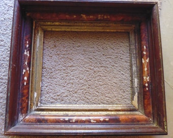 Antique Picture Frame, 1900s picture frame, recessed photo frame, old picture frame, 1800s picture frame, wooden  frame