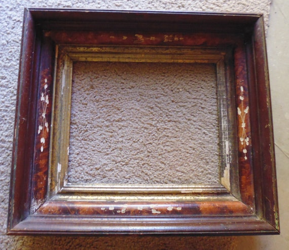 Antique Picture Frame 1900s Picture Frame Recessed Photo