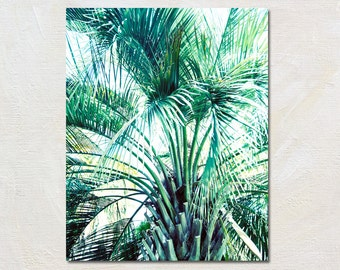 Tropical Wall Decor, Palm Tree Picture, Palm Art Print, Modern Green Artwork, Vertical Photograph, Oversized Photography, Botanical Decor