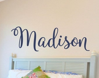 Girls Name Wall Decal Girls Name Decal Baby Girl Nursery Wall Decor Girls Nursery Girls Bedroom Personalized Monogram Vinyl Lettering