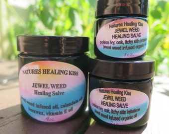 JEWEL WEED SALVE and Soap Bar  wildcrafted, treats poison ivy, athletes foot