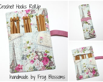 Set of 12 Crochet Hooks & Paris Eiffel Tower Crochet Hook Organizer, Crochet Hooks are Included