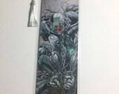 Upcycled Cyborg Comic Book Bookmark