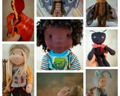 Deposit for custom listing.   Napling, Naptown Boy Doll, Butterfly, Dragon, Snail; waldorf inspired,  natural materials.