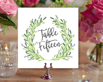 Laurel Table Numbers (Printable) DIY by Vintage Sweet