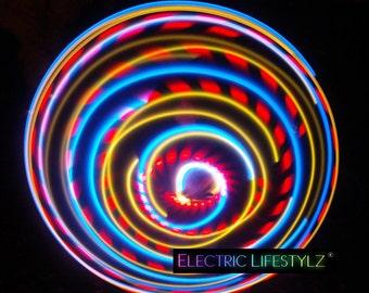 SALE!!!! Hybrid  LED Hula Hoop - El Tigre -  Free Shipping