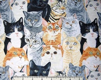 Cat Fabric, Pet Fabric, Packed Cats, Kitty Fabric, 145530