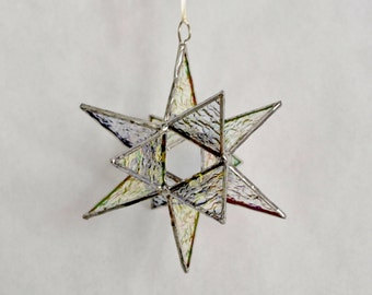 12 Point Moravian Star. Iridescent Star. 5""