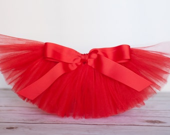 "Red tutu ""Debra"" Valentine's day Tutu girls tutu girls Christmas tutu skirt birthday tutu skirt photo prop holiday tutu size 5 6 7 8 10 12"