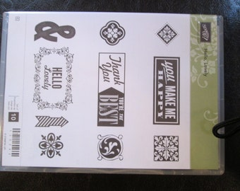 HELLO LOVELY - Stampin' Up retired - Stamp Set
