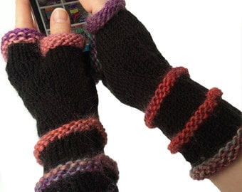Mittens Fingerless, Hipster, Womens Mittens, Boho Hand Knit Texting Mittens, Driving Gloves, Hipster Mitts, Boho Gloves, Gifts MADE TO ORDER