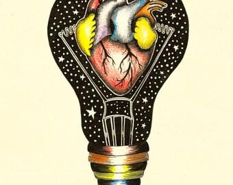RAINBOW HEART (limited edition print) 1/50