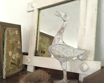 Vintage Beveled Glass Mirror Shabby Chic Funky BoHo Cottage
