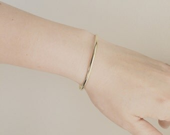Cuff Bracelet / Bangle Bracelet/ Simple Bracelet/ Modern Bangle/ Layering In Style / Gift for Her/ Gold, Rose Gold and Silver Of You Choose