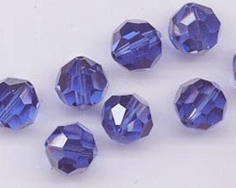 "12 Swarovski crystals with ""satin"" effect - art. 5000 - sapphire satin - 10 mm"