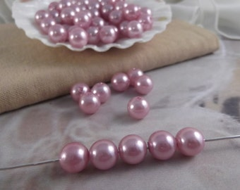 10mm Lilac Faux Loose Pearls ~ 50 pieces