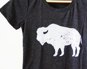 PRE-FALL SALE tri blend womens graphic tee (bison)