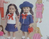 simplicity 7370- 18 inch doll clothes-Fits American Girl dolls