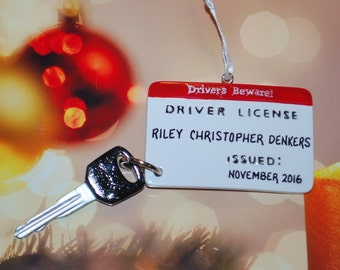 Personalized Drivers License Christmas Ornament