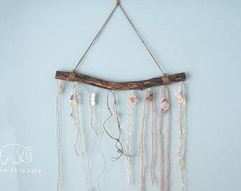 Rustic Woodland Tie Back Headband Holder for Newborn Photography Props
