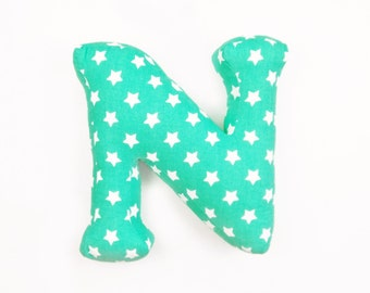 decor letter, small pillow in shape of N