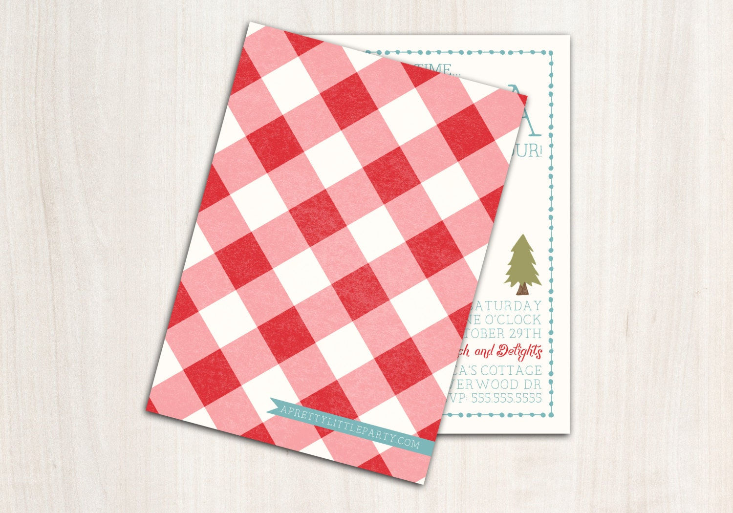 Little Red Riding Hood Invitation - Forest party - Red Riding Hood Party Supplies