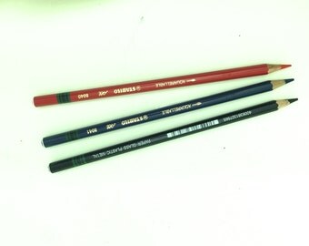 """stabilo """"all"""" colored pencils in red , blue  and black"""